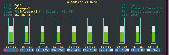 Enabling Equalizer on Raspberry Pi using ALSA equal Plugin